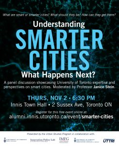 Understanding Smarter Cities: What Happens Next? @ Innis Town Hall | Toronto | Ontario | Canada