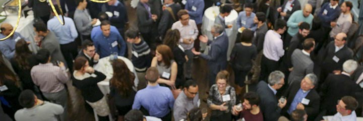 Reception crowd