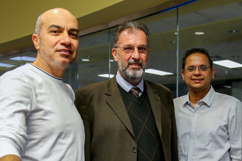 Group of three professors