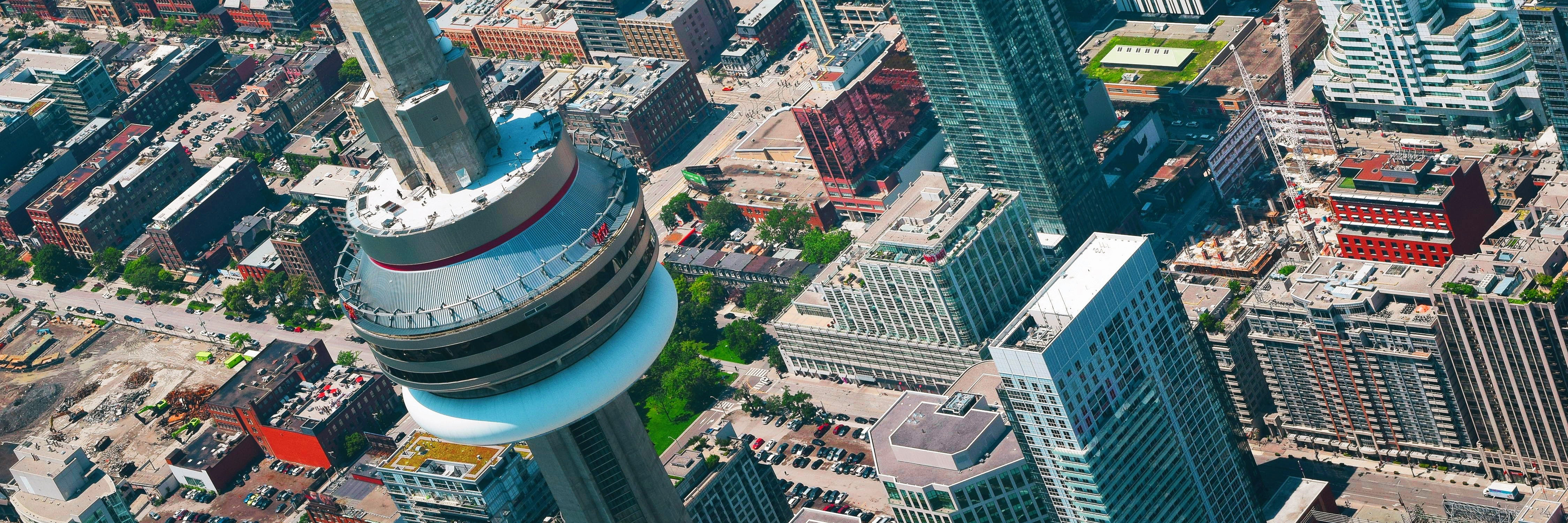 City of Toronto CN Tower aerial view