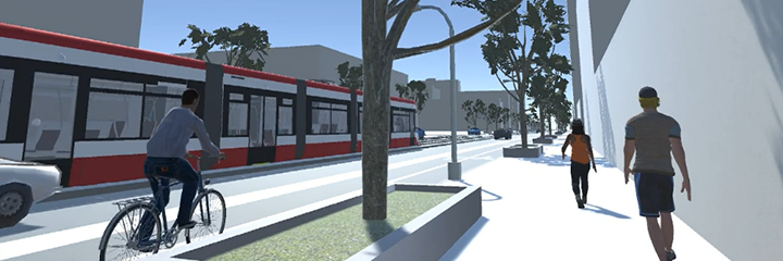 Artists digital rendering of streetscape