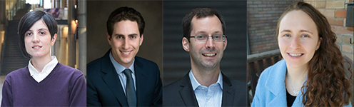 head shots of (L-R) Professors Merve Bodur, Daniel Posen, Scott Sanner, and Shoshanna Saxe