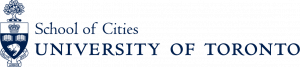 Blue U of T crest School of Cities logo