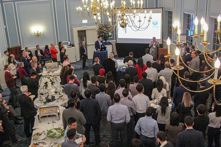 crowd at 2018 Transportation Alumni Reception
