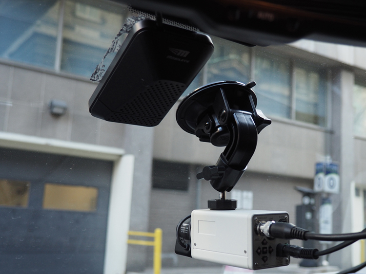 Camera in Donmez' instrumented vehicle