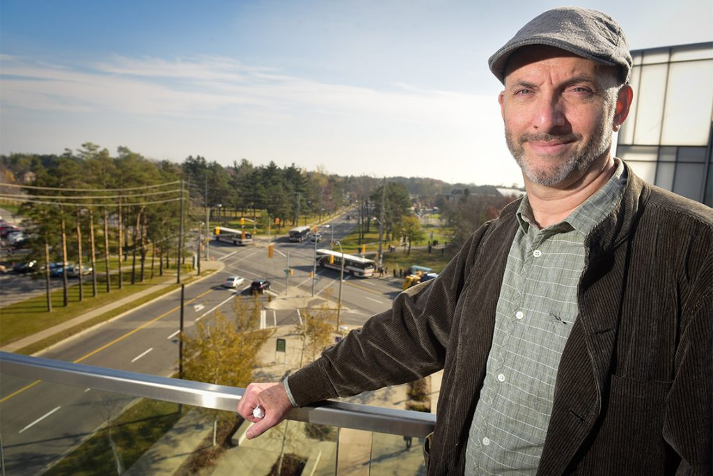 Andre Sorensen stands overlooking Scarborough intersection